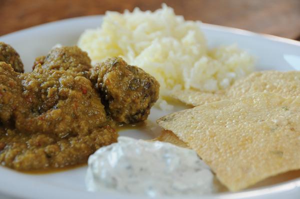 Indiske kjøttboller i curry