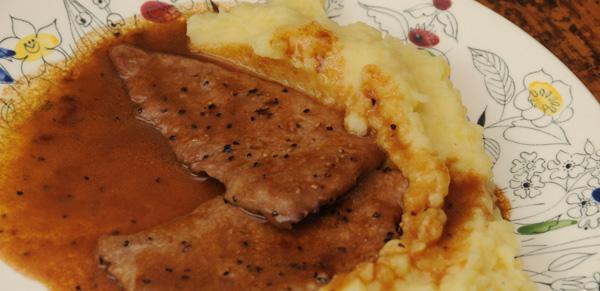 Kalve-schnitzel m/Marsala