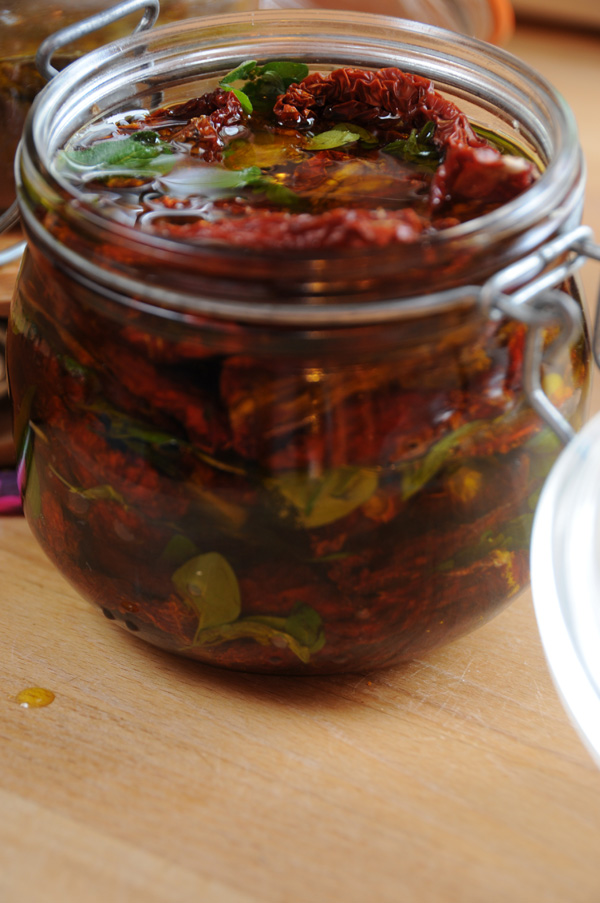 Tørkede tomater i olje