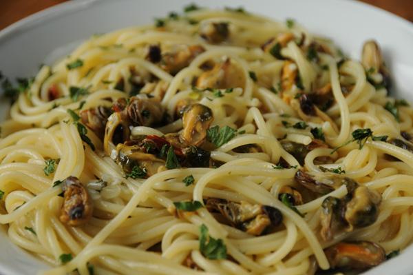 Spaghetti med muslinger