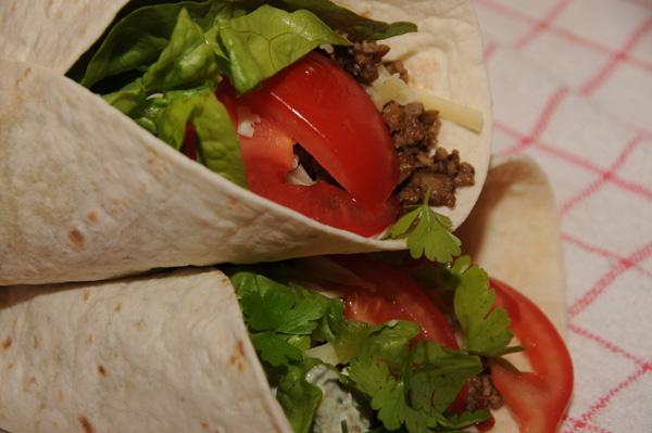 Burrito med Superkokkens hjemmelagede kjøttfyll