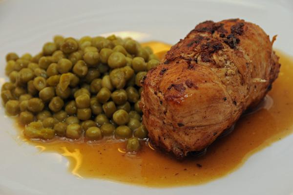 Kyllingfilet med fylt skinke