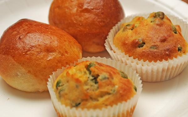 Muffins med urter og grønnsaker