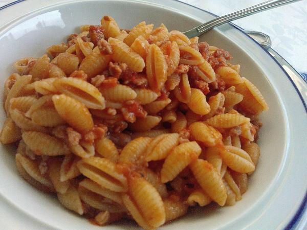 Pasta med Luganighetta