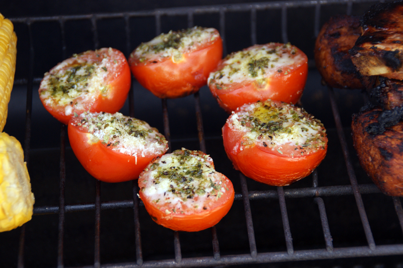 Grilled Oregano and Parmesan Tomatoes